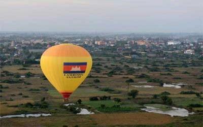 Hot air Balloon rides over Angkor wat