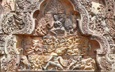 Temple stone reliefs