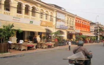 Seam reap streets cambodia