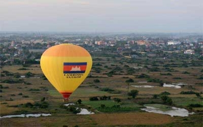 Angkor wat Hot air ballooning