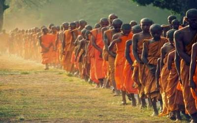 Siem Reap early morning monks
