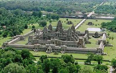 Angkor wat from Hot Air Balloon