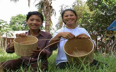 Siem Reap basket weavers