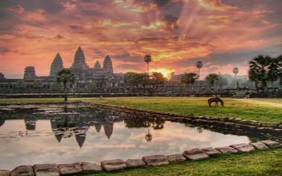 Angkor wat Temple sunrise