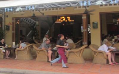 Siem Reap out door dinning