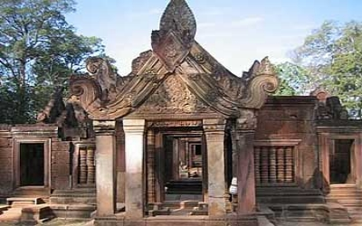 Banteay Srei temple entrance
