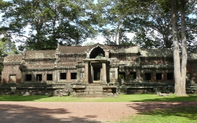 Back entrance to Angkor wat