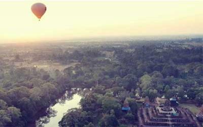 Ballooning over Angkor wat