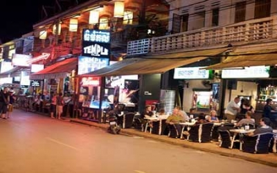 Siem reap dinning at night
