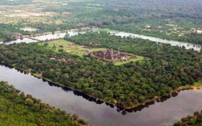 Angkor wat aerila view